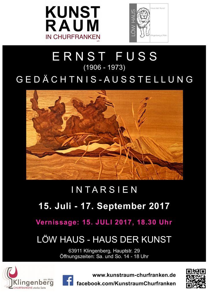 Ernst Fuss Ged 228 Chtnisausstellung Kunstraum Churfranken