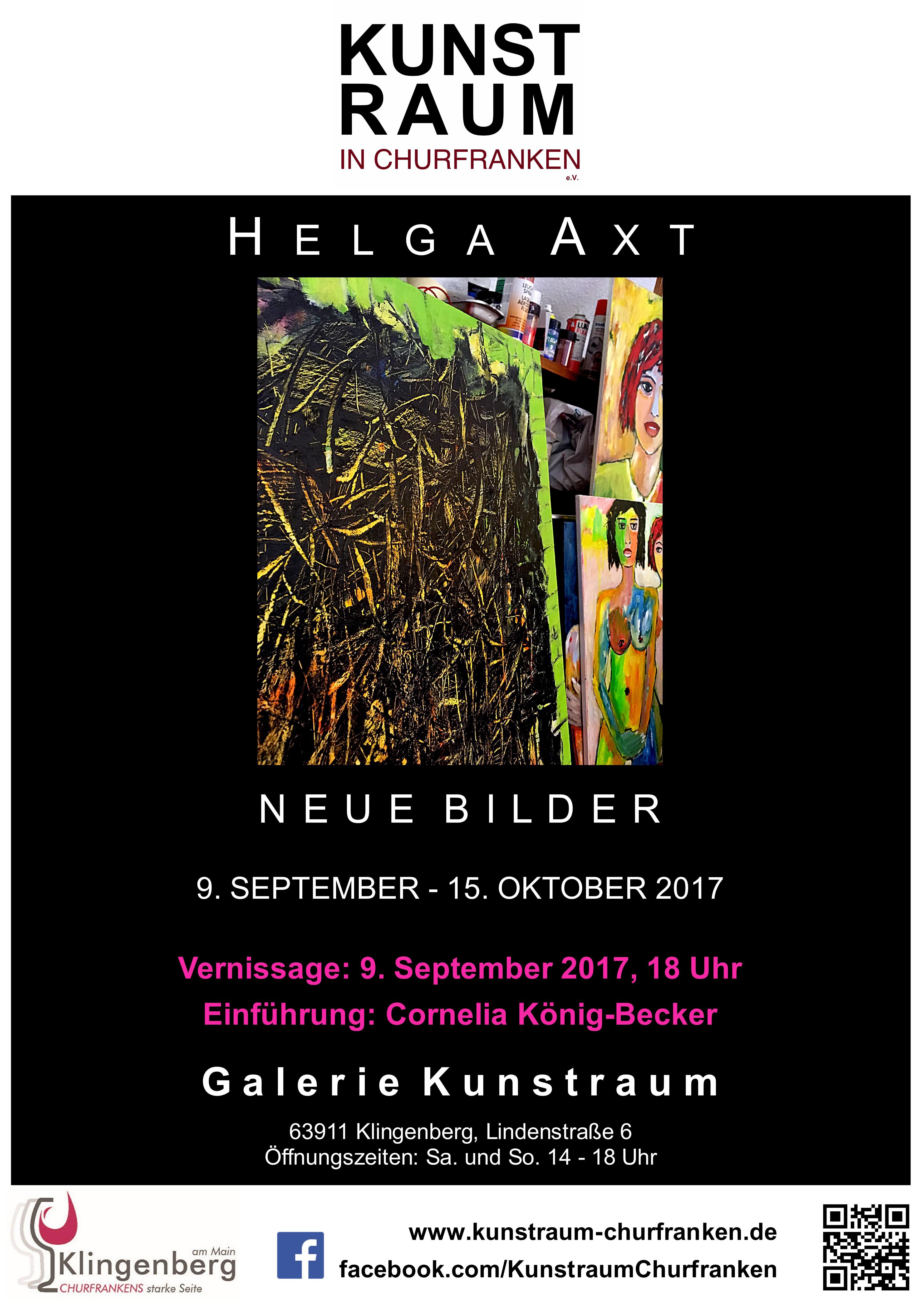 Ausstellung Helga Axt – Neue Bilder, GALERIE KUNSTRAUM, 9.9.-15.10.17